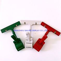 চীন Colorful Thumb Price Tag Holder Clip , Supermarket Pop Clip In Red Green White সরবরাহকারী